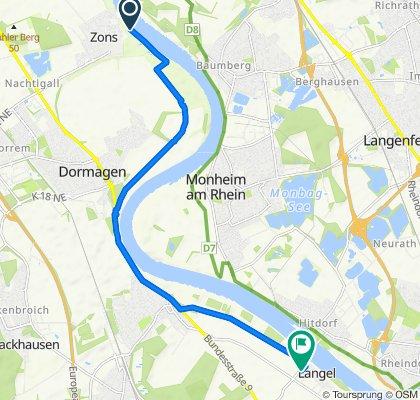 Sportliche Route in Köln