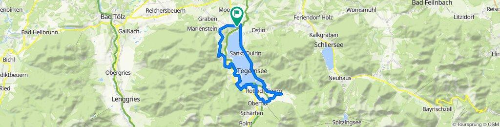 Langsame Fahrt in Gmund am Tegernsee