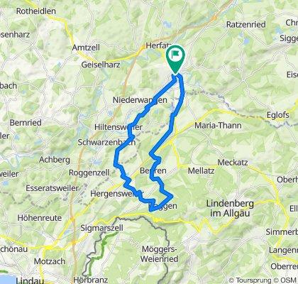 Wangen-Stockenweiler-Niederstaufen-Opfenbach-Wangen