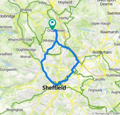 Burncross to Sheffield