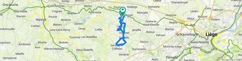 Itinéraire confortable en Remicourt