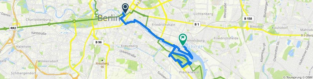 Unnamed Road, Berlin to Fischzug 21P, Berlin