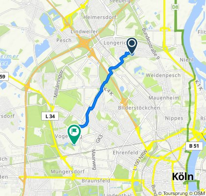 Moderate Route in Köln