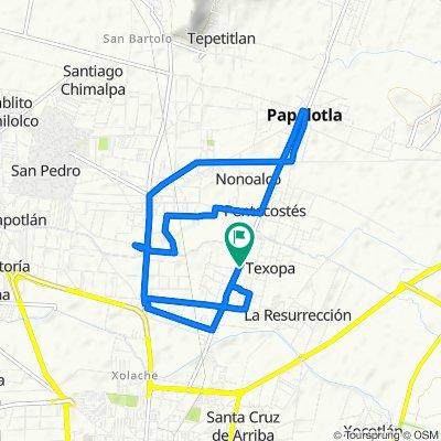 De Avenida Benito Juárez 40, Tulantongo a Avenida Benito Juárez 40, Tulantongo