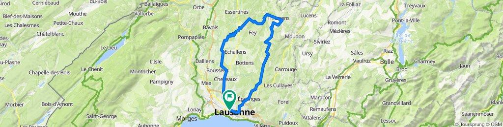 Lausanne-Thierrens-Lausanne