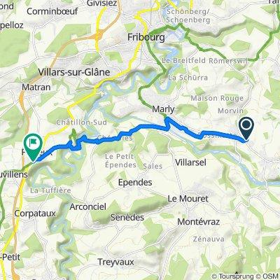 Zälgstrasse 2, Tentlingen nach Route de la Ria 2, Posieux