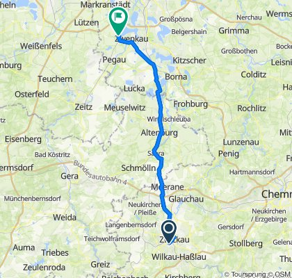 Hilfegottesschachtstraße 3A, Zwickau nach B186, Zwenkau