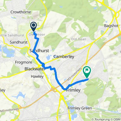 Route from 7 Saint Georges Court, Sandhurst