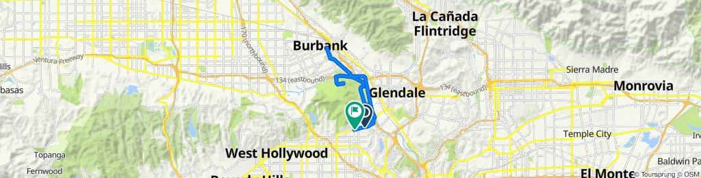 4045 Los Feliz Blvd, Los Angeles to 4635 Los Feliz Blvd, Los Angeles