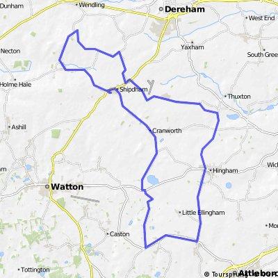 Shipdham - Hingham 30 mile