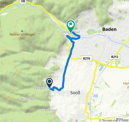 Sooß nach Baden