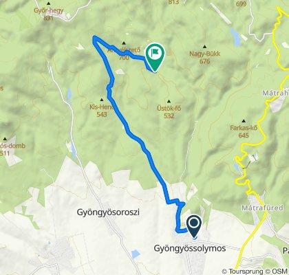Relaxed route in Gyöngyössolymos