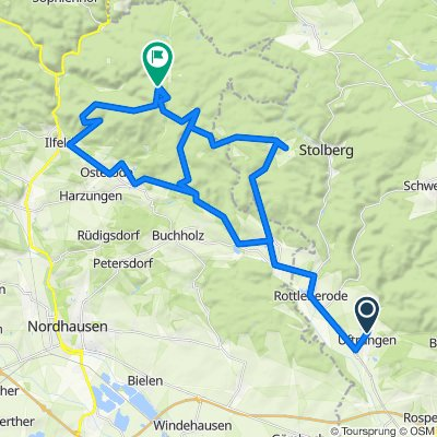 Kuhgrube 1, Südharz nach Hufhaus 1, Harztor