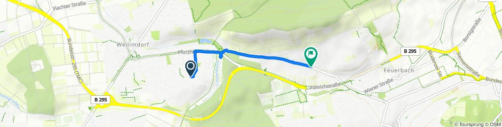 Moderate Route in Stuttgart