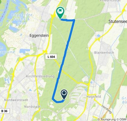 Route to Leopoldstraße, Eggenstein-Leopoldshafen