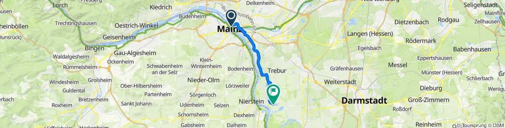 Route im Schneckentempo in Riedstadt