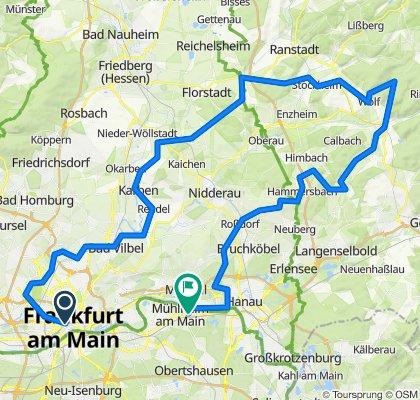 Frankfurt - Wetterau - Vogelsberg - Mühlheim (kurz)