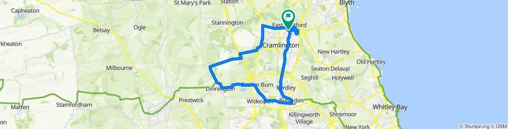 Steady ride in Cramlington