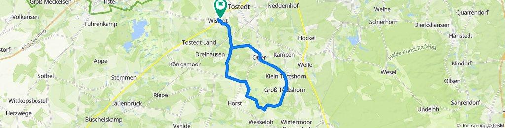 Wistedt, Otter, Groß Todtshorn über Riepshof zurück