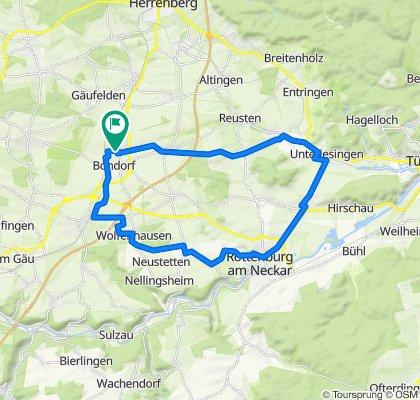 Hainbuchenstraße 73, Bondorf nach Hainbuchenstraße 69, Bondorf
