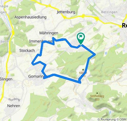 Ohmenhausen, Bronweiler, Gomaringen, Stockach, Immenhausen Mähringen, Ohmenhausen 2x