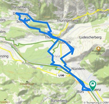 Gemütliche Route in Bludenz