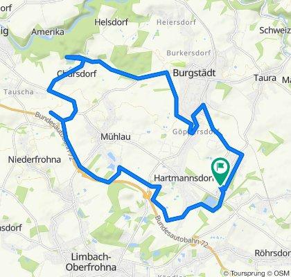 Moderate Route in Hartmannsdorf