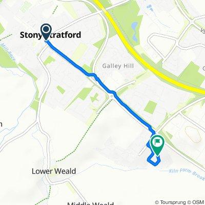 Restful route in Milton Keynes