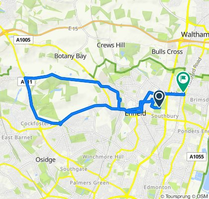 Fast ride in Enfield
