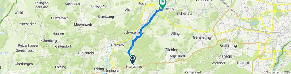 Einöde, Wörthsee to Emmeringer Straße 27, Emmering