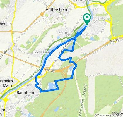 Entspannende Route in Kelsterbach
