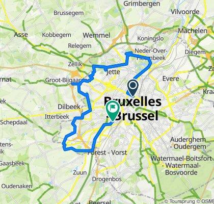 Slow ride in Etterbeek