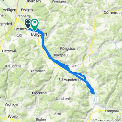 Entspannende Route in Lyssach