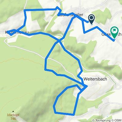 Route to Friedhofsweg 2, Gösenroth