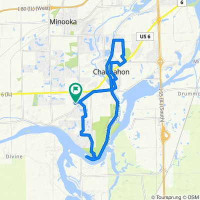 Moderate route in Channahon