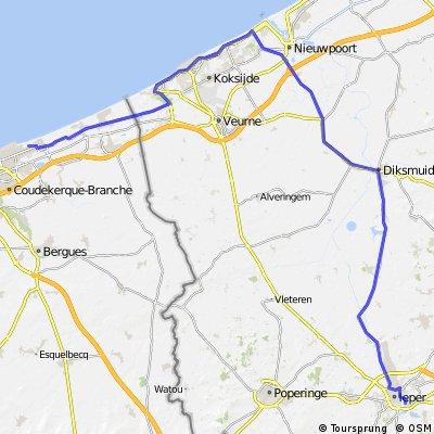 1- Yper(Belgien) nach Dunkerque (Frankreich