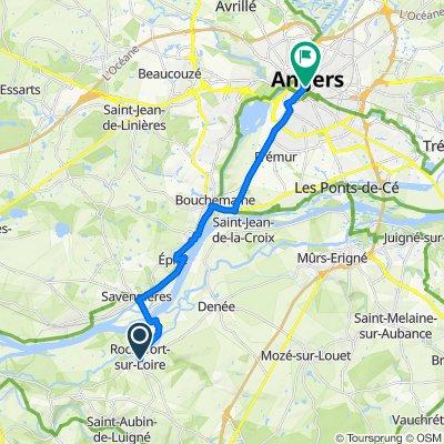 De Rochefort-sur-Loire à Place du Ralliement 8, Angers