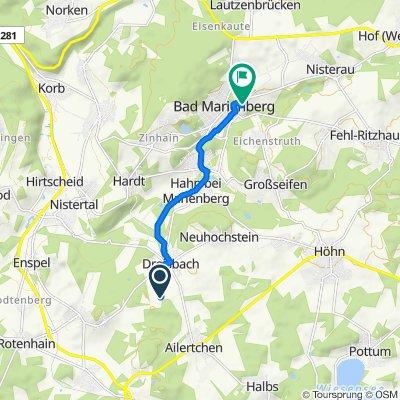 Route to Friedrichstraße 4, Bad Marienberg (Westerwald)