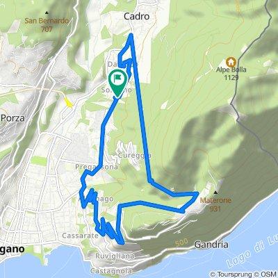 Giro a velocità lenta in Davesco-Soragno