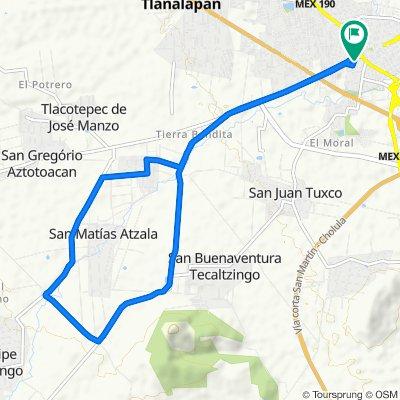 Paseo rápido en San Martín Texmelucan de Labastida