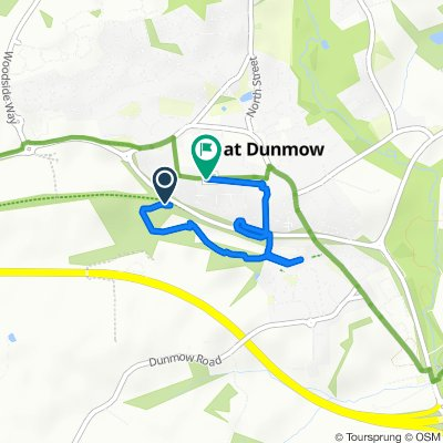 Steady ride in Dunmow