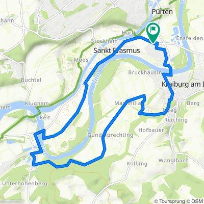 Gerade Fahrt in Waldkraiburg