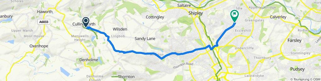 1 Manor Gardens, Bradford to Javelin Close, Bradford