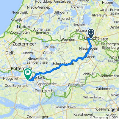 Van Utrecht naar Barendrecht langs de Lek