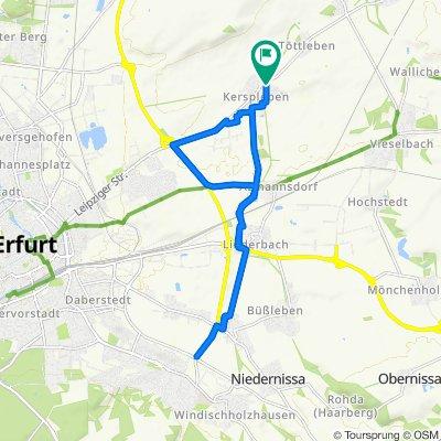 Gemütliche Route in Erfurt