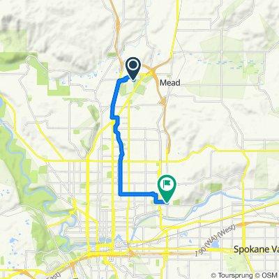 12205 N Denver Dr, Spokane to 3200 N Ferrall St, Spokane