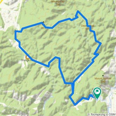 Actual Akatarawa Route