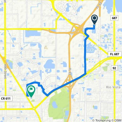 11850 Dr Martin Luther King Jr St N, Saint Petersburg to 8001 US-19 N, Pinellas Park