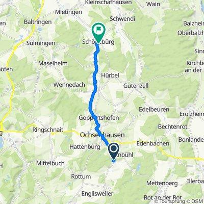 Am Eichberg 13, Erlenmoos nach Kreuzbergweg 12, Schwendi