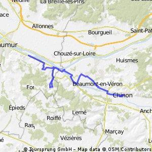 Loire Radweg: Tag 6 Chinon - Bourg-Neuf